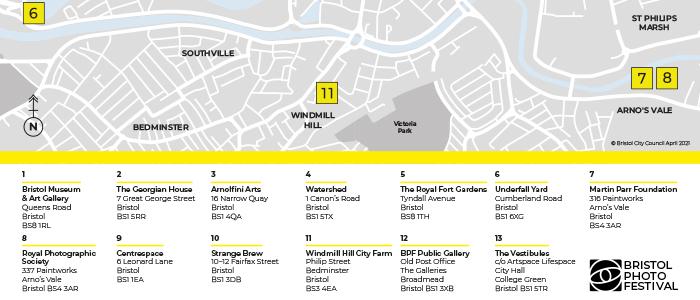 Bristol Photo Festival venue map